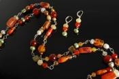 Long Carnelian Necklace