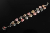 Pink Opal and Coin PearlBracelet