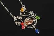 Sterling and Gemstone Wire Pendants